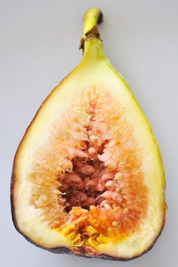 отрежьте половину плодоовощ смоквы стоковые фотографии rf