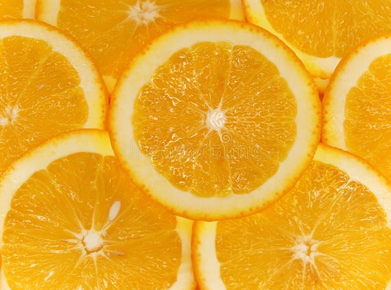 отрежьте померанцы плодоовощ стоковая фотография