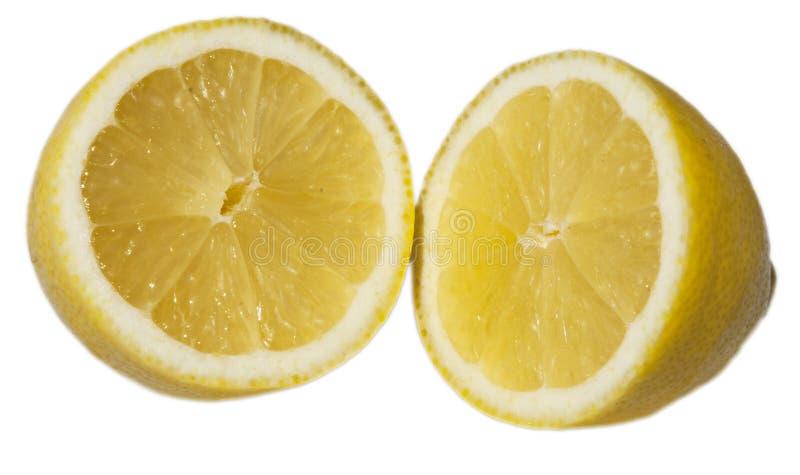 отрежьте половинный лимон стоковая фотография rf