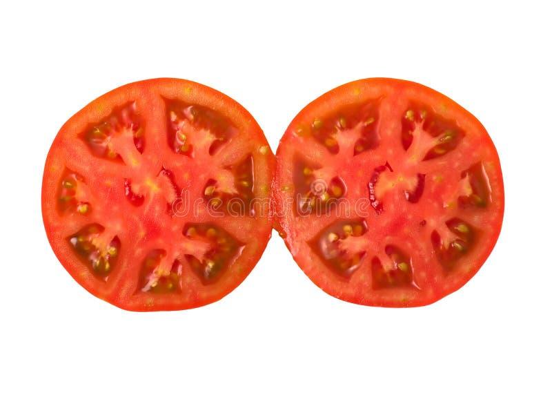 отрежьте томат 2 стоковая фотография rf