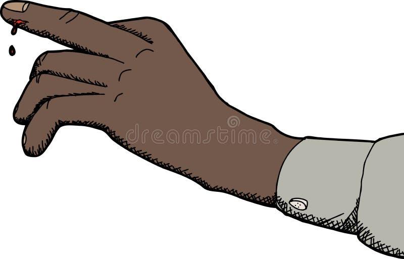 Отрежьте указательный палец иллюстрация штока