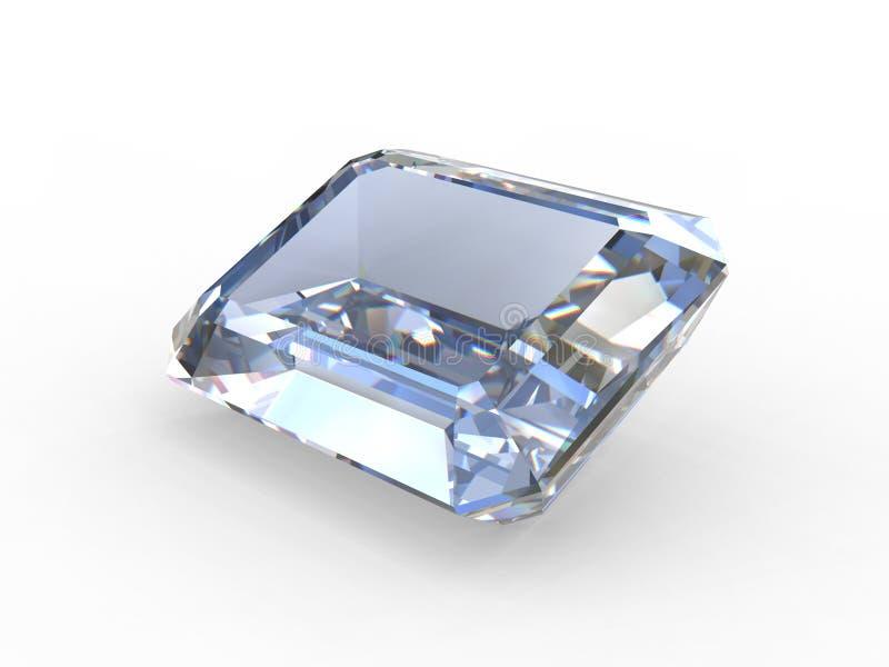 отрежьте gemstone изумруда диаманта иллюстрация штока