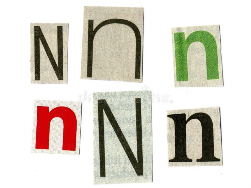 отрежьте newsprint письма стоковое фото