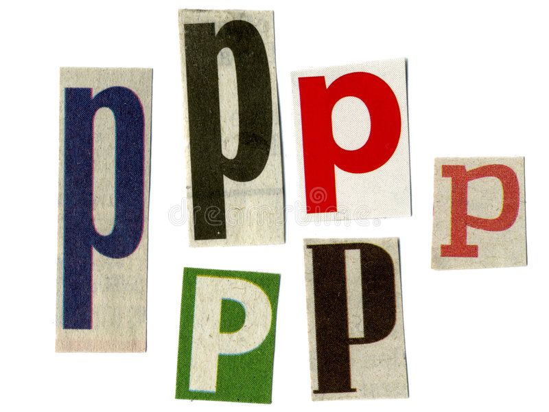 отрежьте newsprint письма стоковые фото