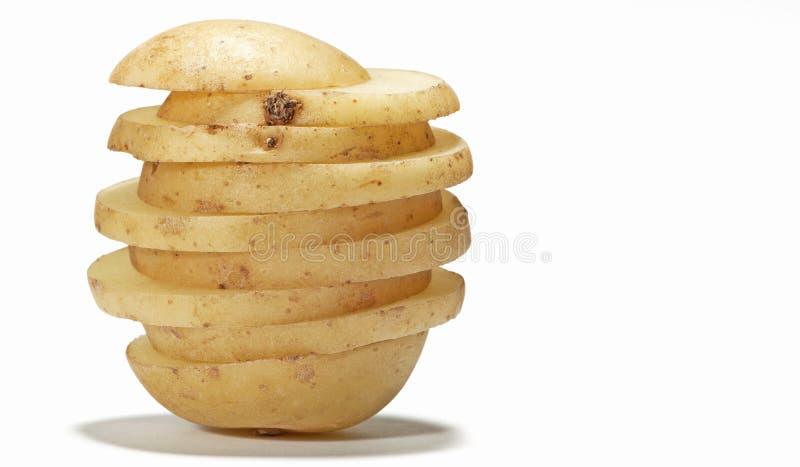 отрезанная картошка стоковые фото