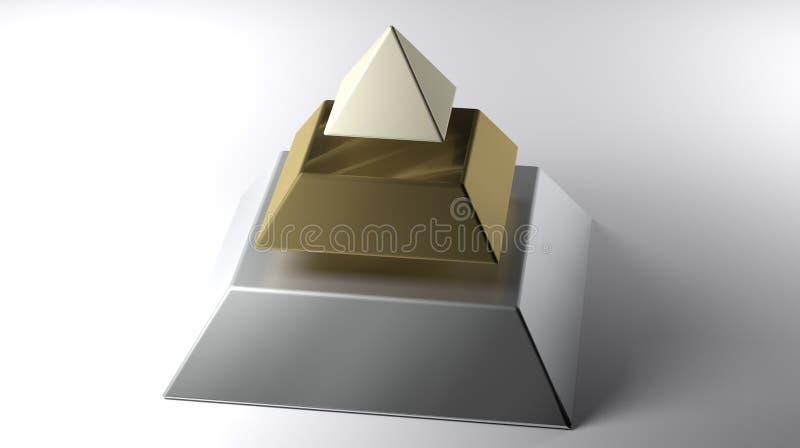 Отрезанная пирамида на белой поверхности бесплатная иллюстрация