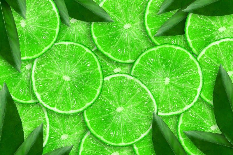 Отрезанная сочная известка : r Свежие фрукты r стоковые фотографии rf