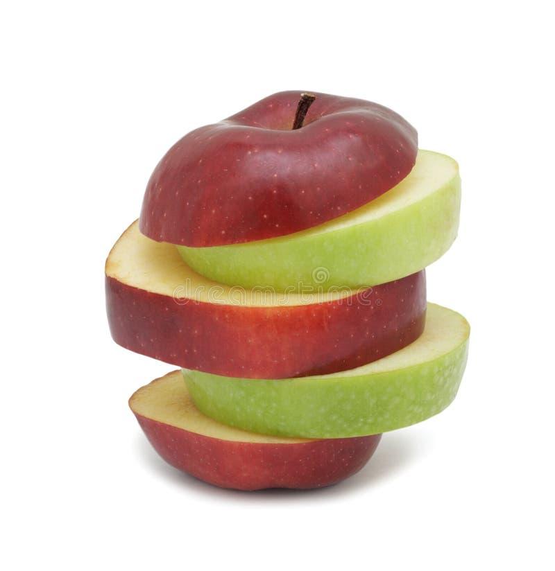 отрезанное яблоко изолировало зрелое стоковое изображение rf