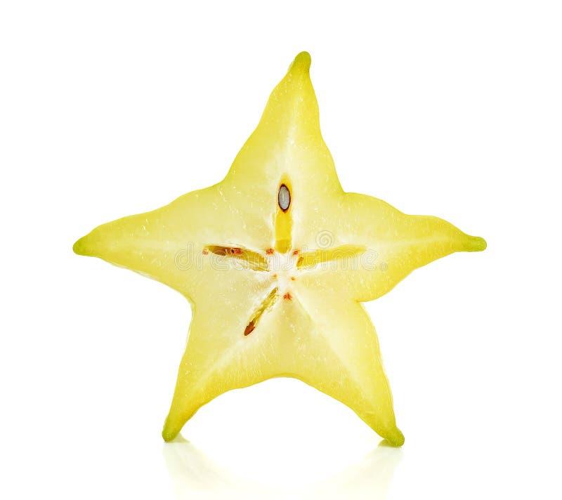 Отрезанное яблоко звезды изолированное на белой предпосылке стоковое фото