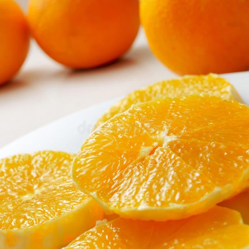 Отрезанный апельсин стоковое изображение