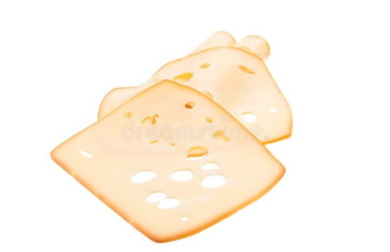 Отрезанный изолированный сыр стоковое изображение rf