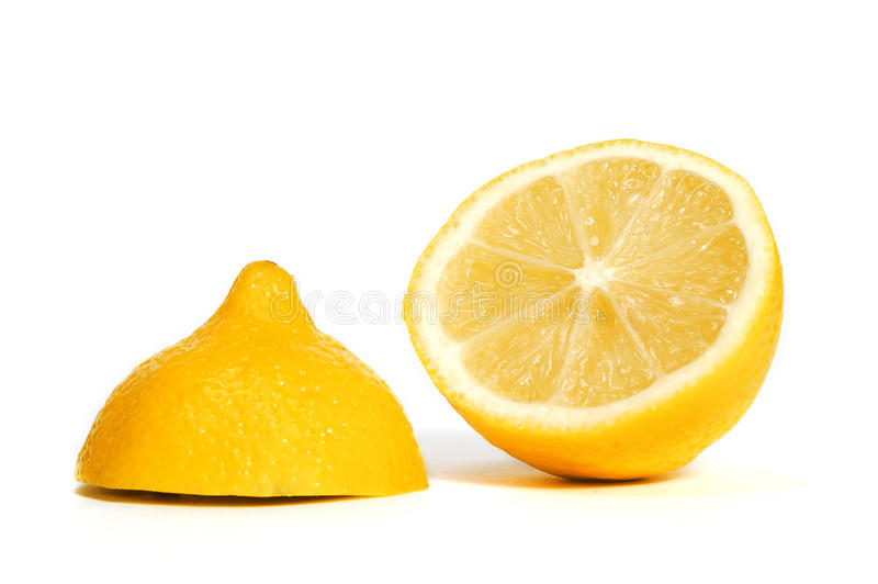 отрезанный лимон стоковая фотография rf
