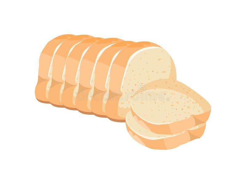 отрезанный хлеб Иллюстрация вектора белого хлеба бесплатная иллюстрация
