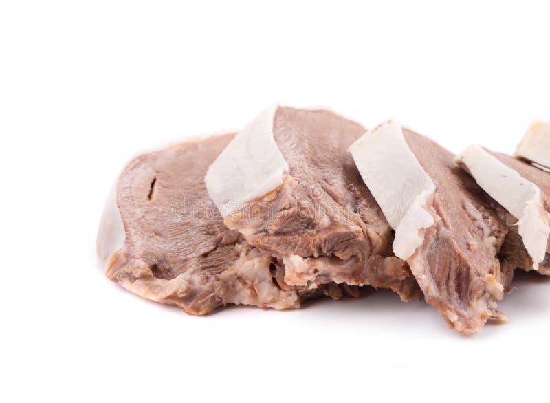 Отрезанный язык говядины стоковые изображения