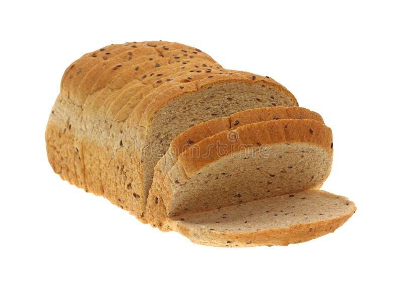 отрезанный flaxseed хлеба угла стоковые фото