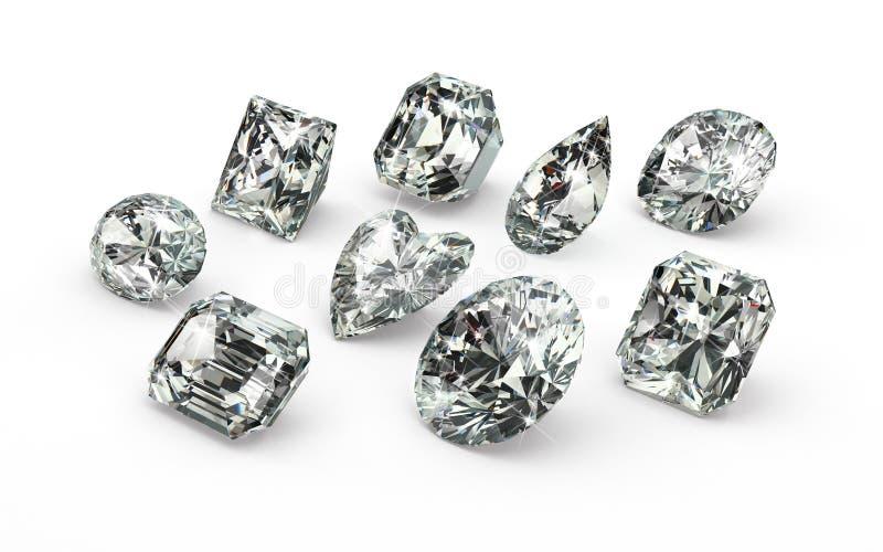 Отрезки диаманта иллюстрация вектора