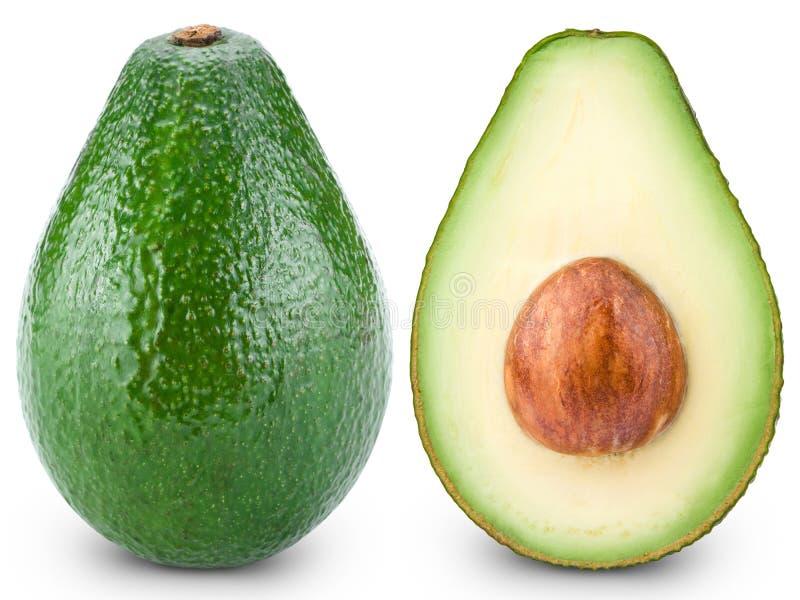 отрезок авокадоа половинный стоковое изображение