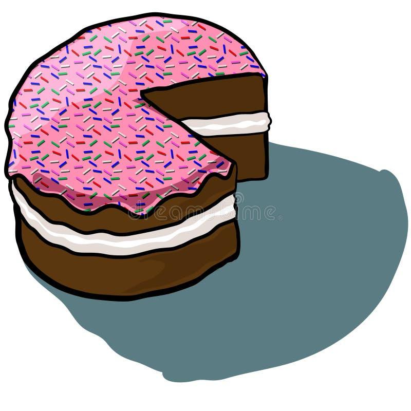 Отрезок замороженный тортом стоковая фотография rf
