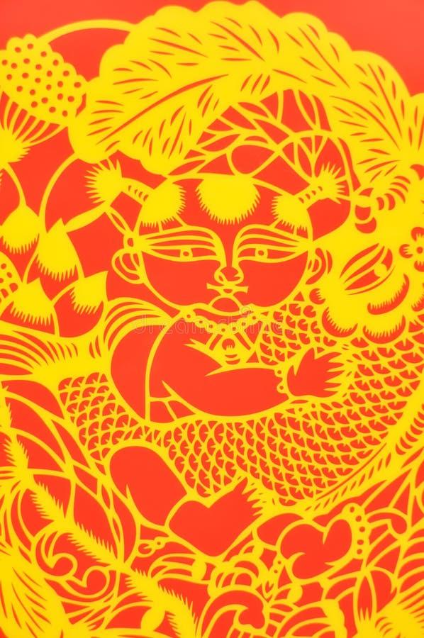 Отрезок китайской бумаги стоковое фото