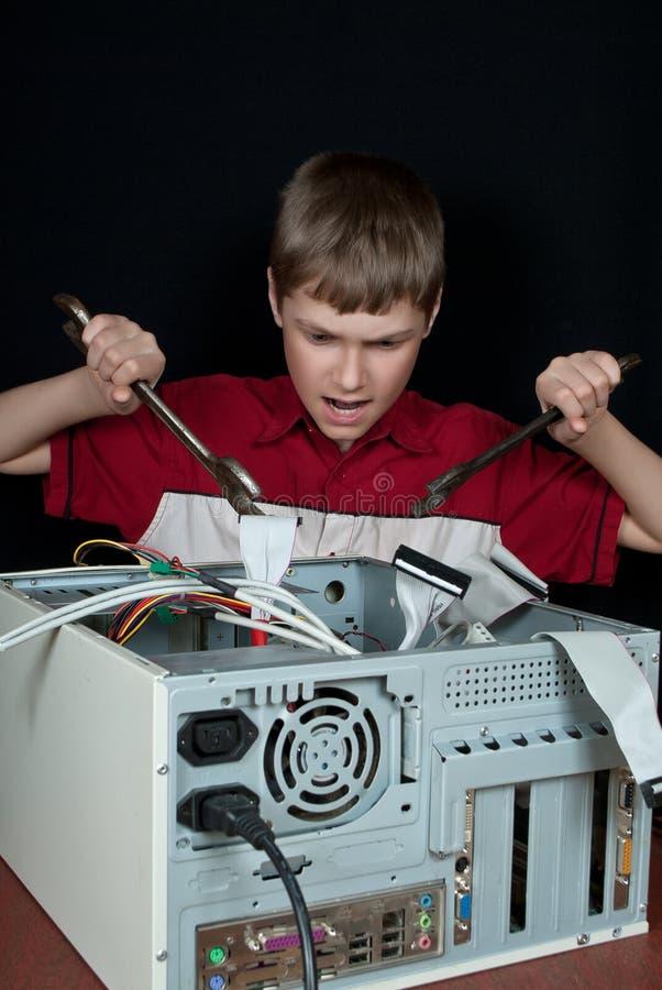 Отремонтируйте ваш компьютер. стоковые фотографии rf