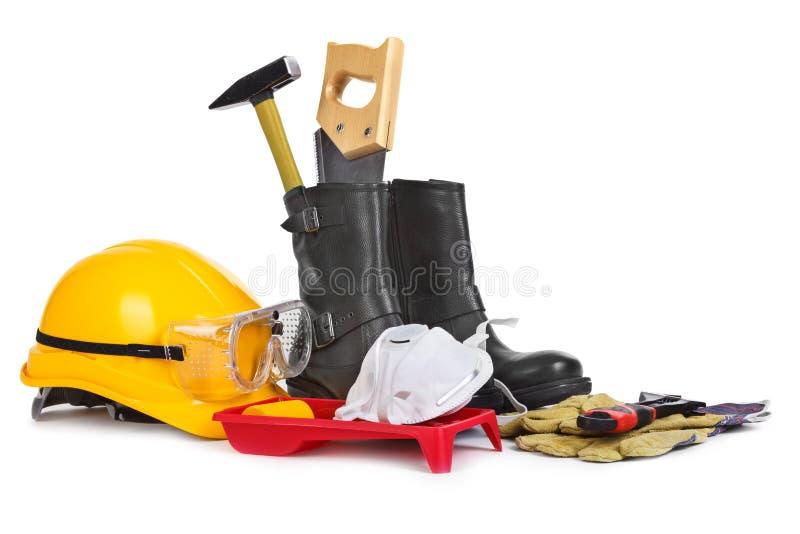 Отремонтируйте вспомогательное оборудование на белой предпосылке стоковые изображения rf