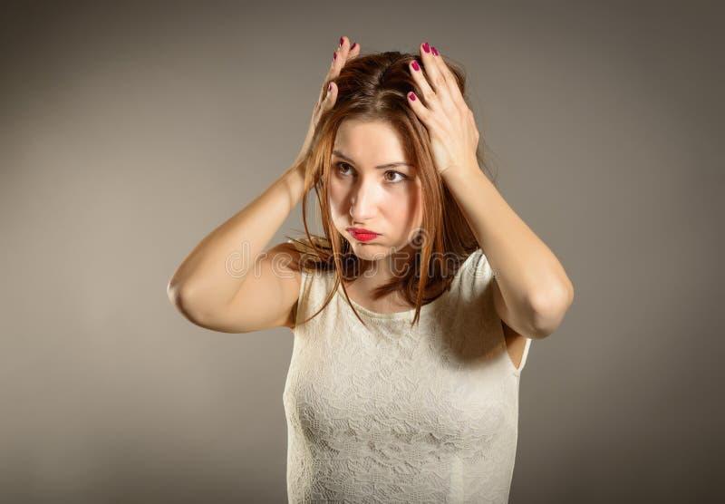 Отрицательные человеческие эмоции смотрят на восприятие жизни чувств выражения стоковые изображения rf