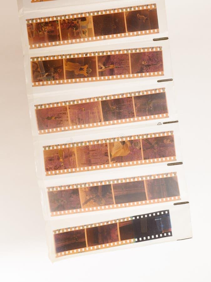 Отрицательный фильм от камеры стоковое фото