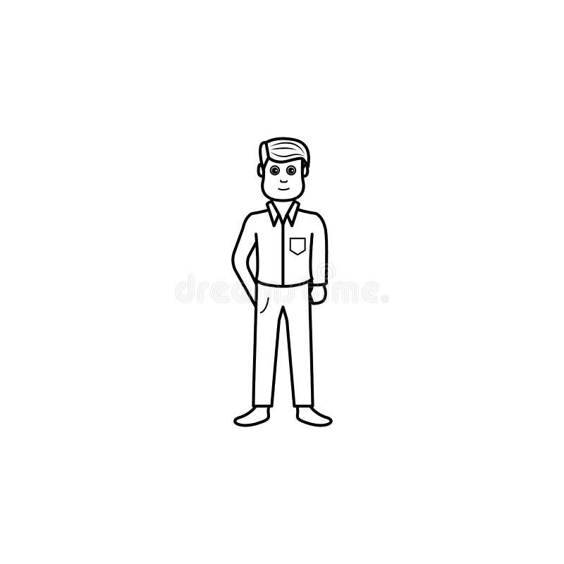 отроческий значок отрочества Элемент значка поколения для передвижных apps концепции и сети Тонкая линия значок для дизайна и dev иллюстрация вектора