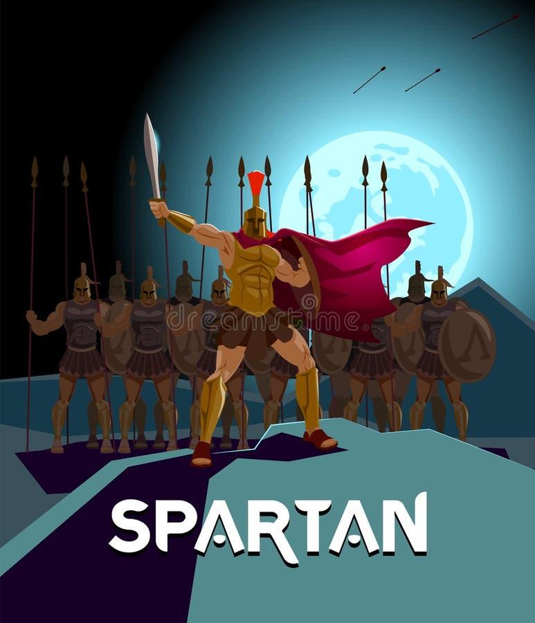 Отрыв римских legionaries Логотип спартанский Защитник ратников иллюстрация штока