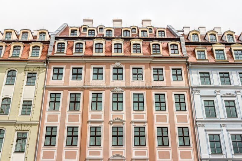 Отстраиванные заново здания в Дрездене стоковые изображения