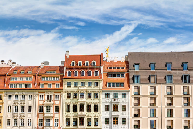 Отстраиванные заново здания в Дрездене стоковое изображение rf