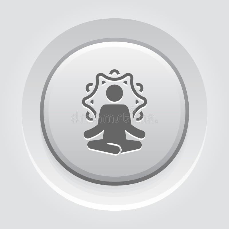 Отступление йоги и значок раздумья Плоская иллюстрация дизайна иллюстрация вектора