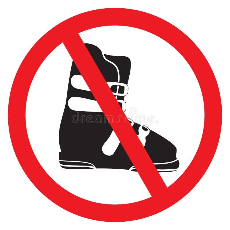 Отсутствие ботинка лыжи иллюстрация вектора