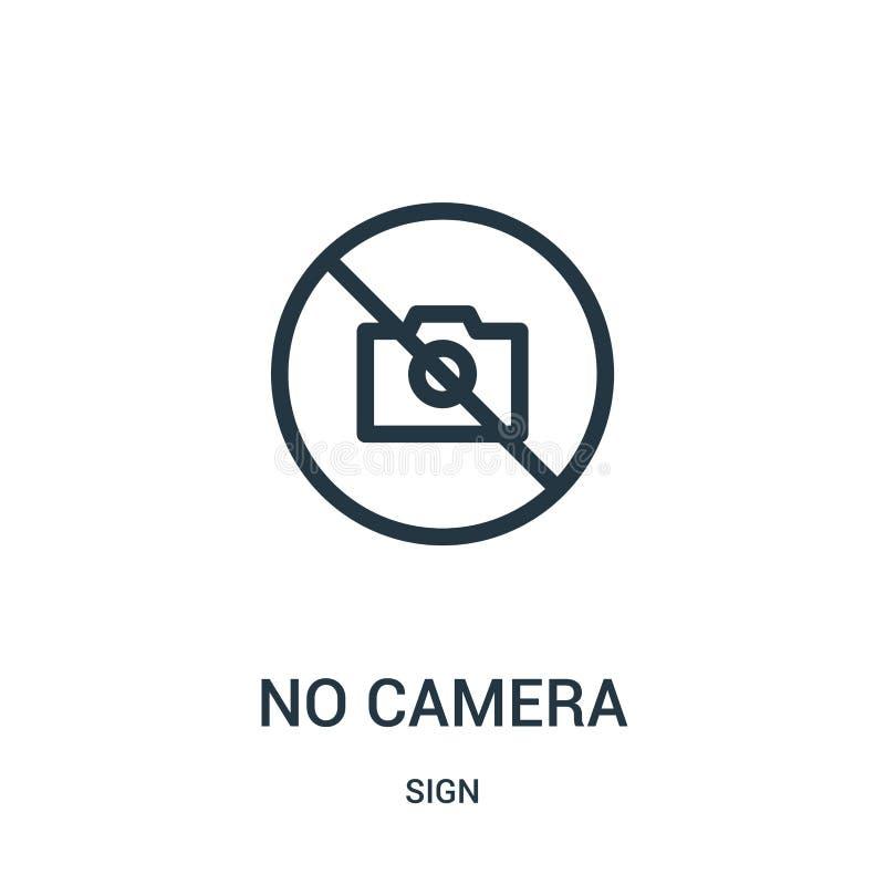 отсутствие вектора значка камеры от собрания знака Тонкая линия отсутствие иллюстрации вектора значка плана камеры иллюстрация штока