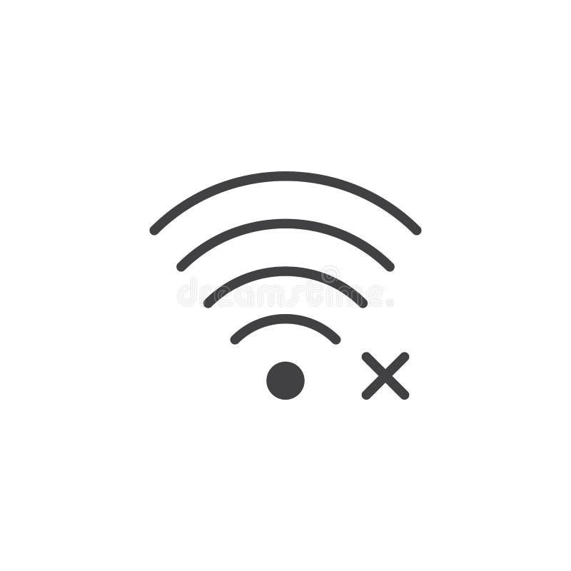 Отсутствие доступа к значку вектора интернета бесплатная иллюстрация