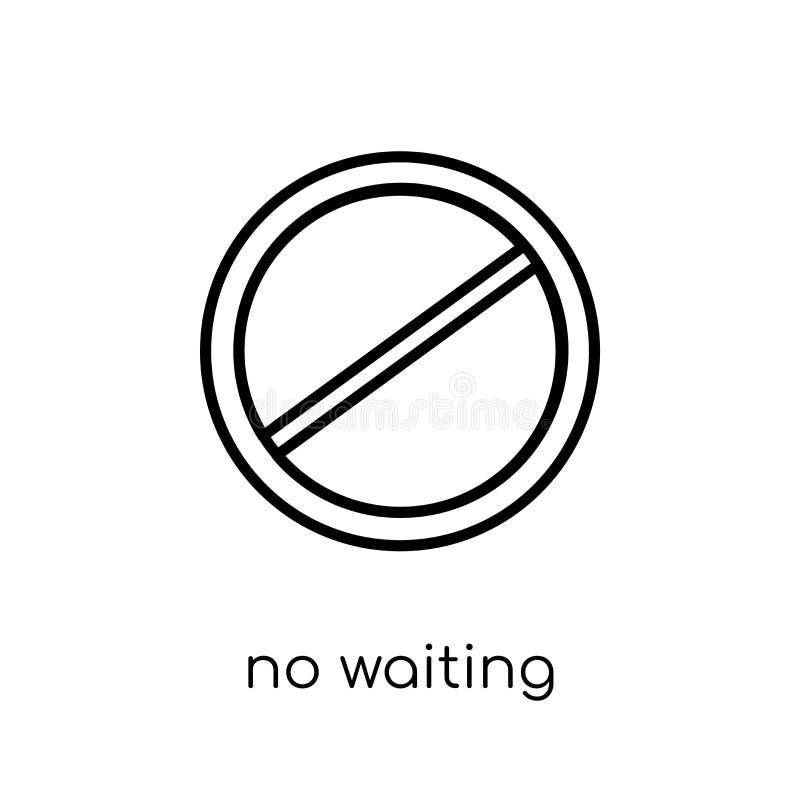 Отсутствие ждать значка знака Ультрамодный современный плоский линейный вектор отсутствие waitin бесплатная иллюстрация