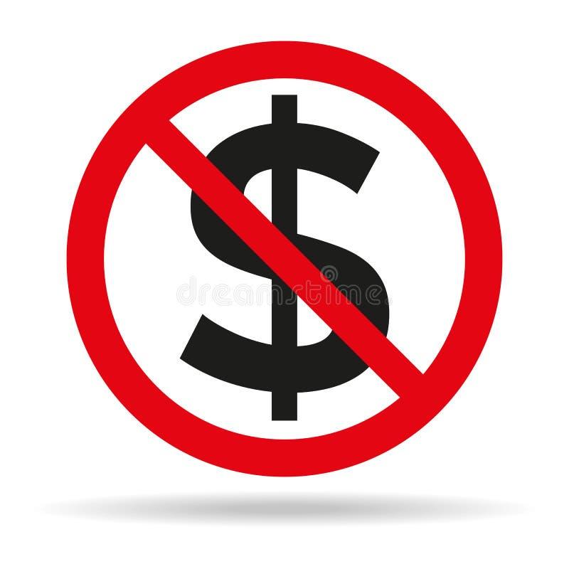 Отсутствие знака денег на белой предпосылке стоковая фотография