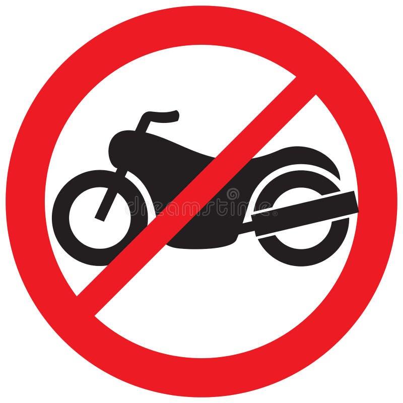 Отсутствие знака запрета мотоцикла иллюстрация штока