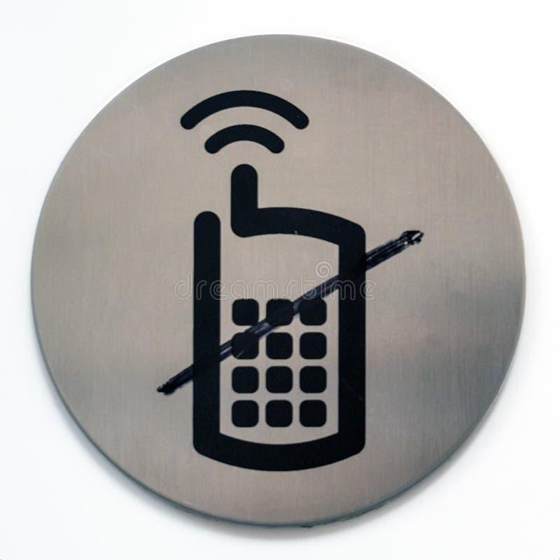 Отсутствие знака мобильного телефона стоковые фотографии rf