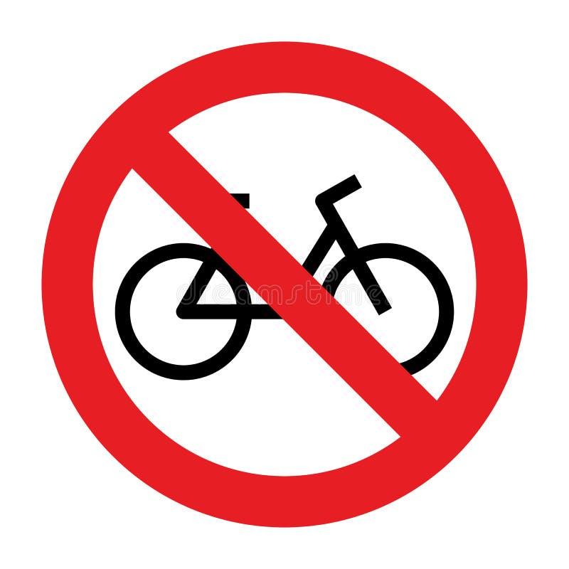 Отсутствие знака позволенного велосипедом иллюстрация вектора