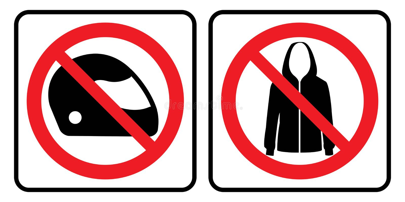 Отсутствие знака шлема и куртки бесплатная иллюстрация