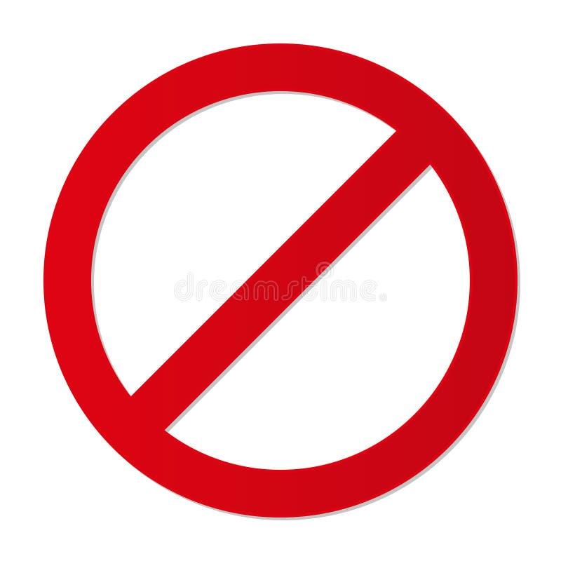 Отсутствие знака forbiding паркуя etc ограничения входа иллюстрация вектора