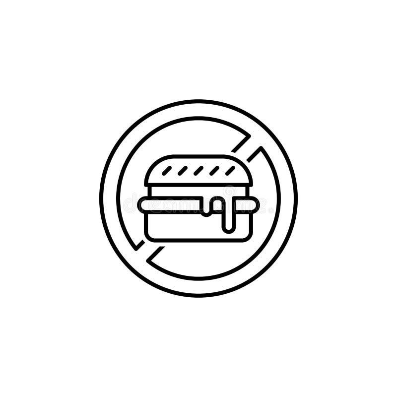 отсутствие значка плана высококалорийной вредной пищи Элементы значка иллюстрации диеты и питания Знаки и значок для вебсайтов, с иллюстрация штока