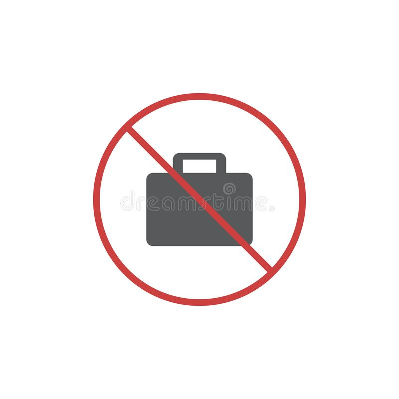 Отсутствие значка портфеля плоского иллюстрация вектора
