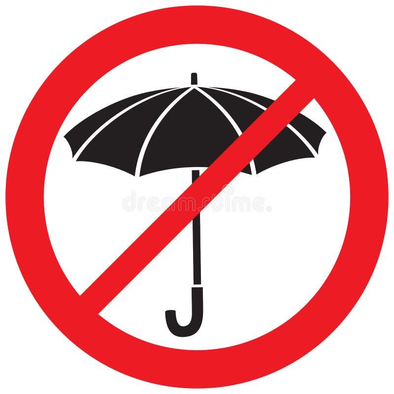 Отсутствие зонтика иллюстрация штока