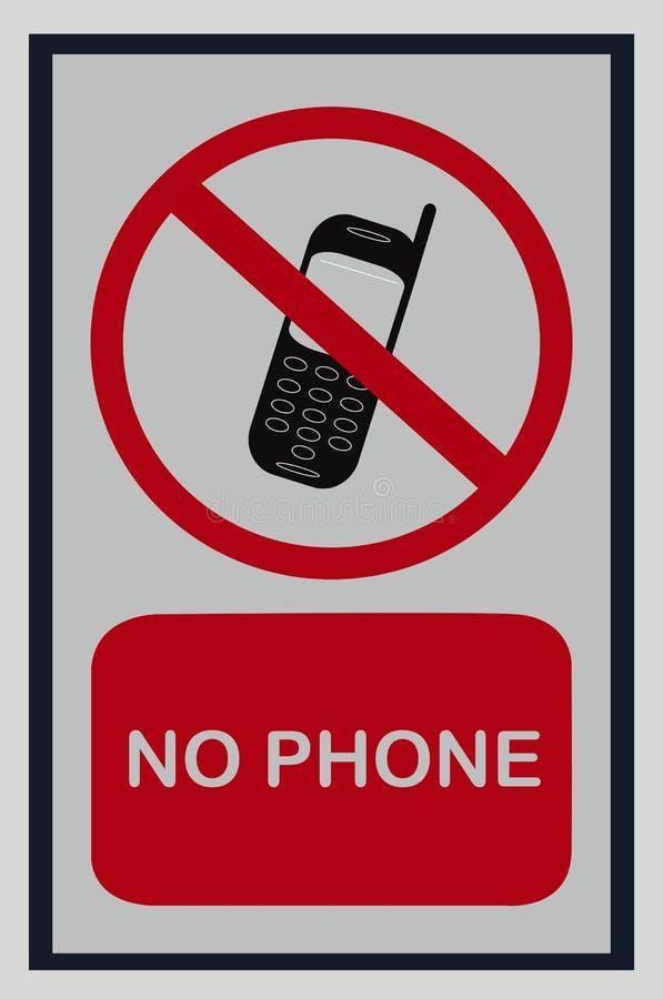 Отсутствие изолированного знака мобильного телефона на белизне иллюстрация вектора
