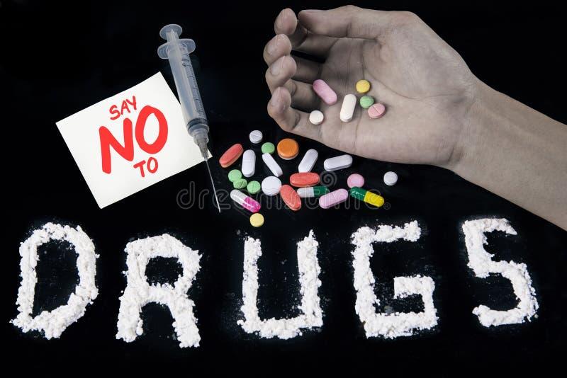 Отсутствие концепции 1 лекарств стоковое фото rf