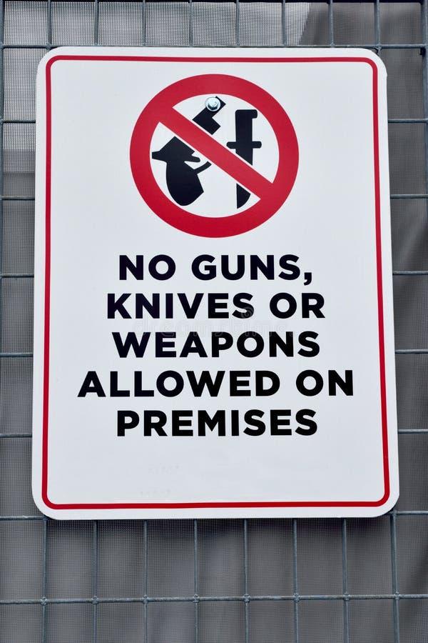 Отсутствие ножи или оружия оружи стоковые фотографии rf
