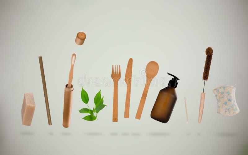 Отсутствие отходов для личной гигиены Концепция устойчивого образа жизни иллюстрация штока