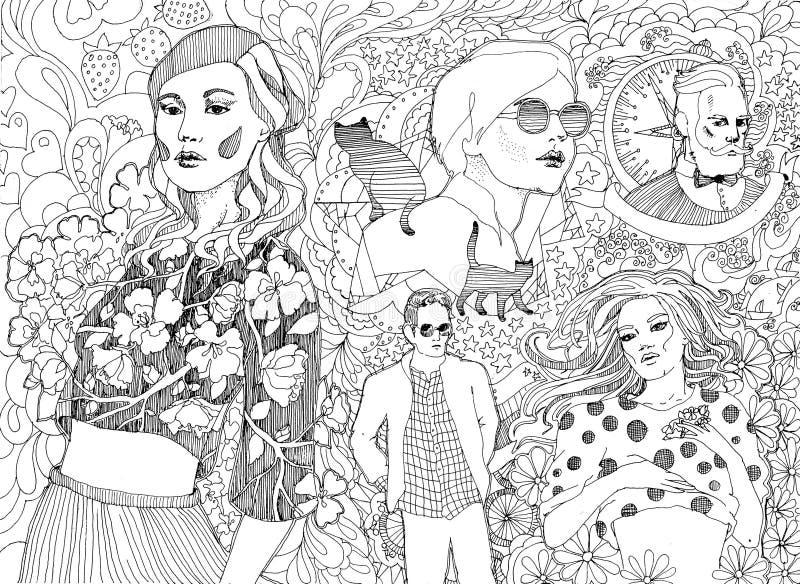 Отсутствие подобной группы в составе модные люди бесплатная иллюстрация